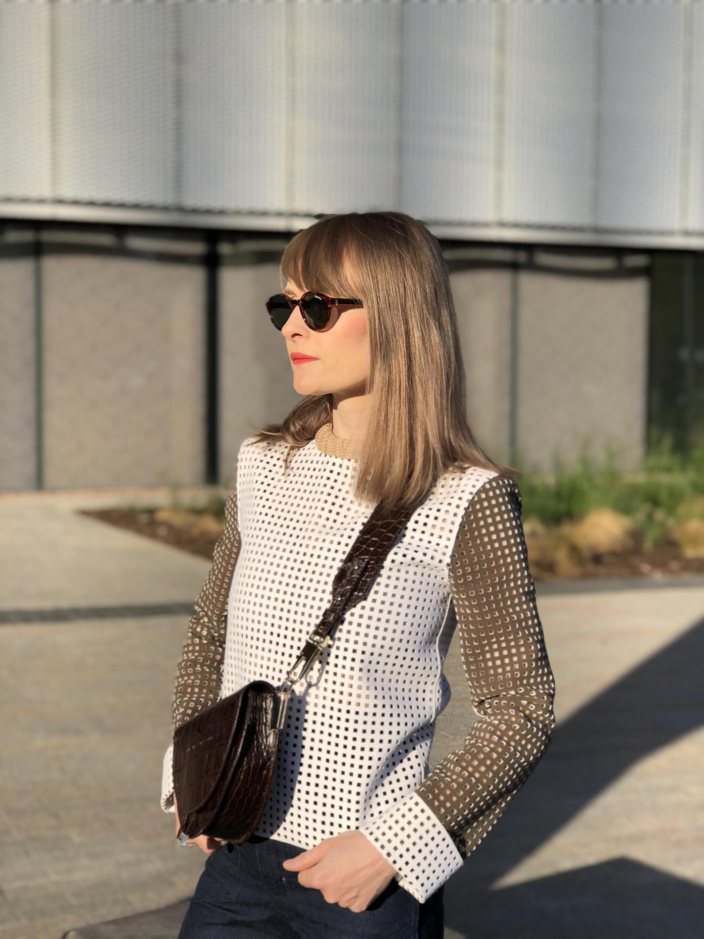 polaroid sunglasses saddle bag zofia chylak jw anderson top by fashion art media