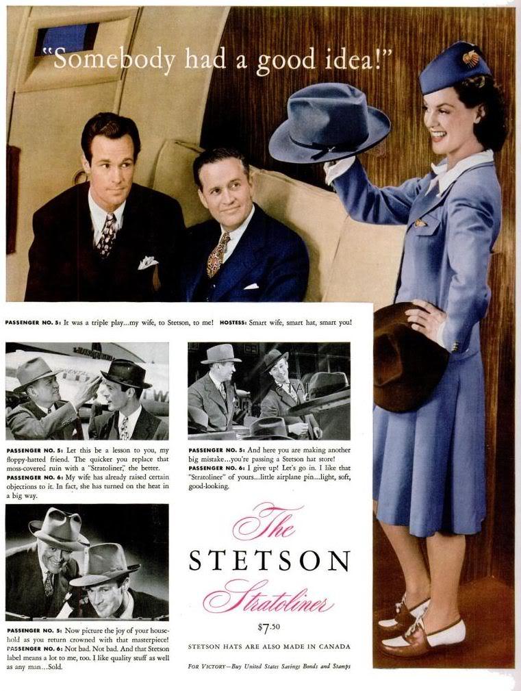 stetson stratoliner vintage ad